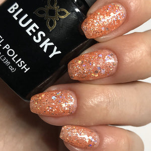 Bluesky Glitter BLZ 43 UV/LED Soak Off Gel Nail Polish 10ml Free Postage - Bluesky Nail Gel Polish