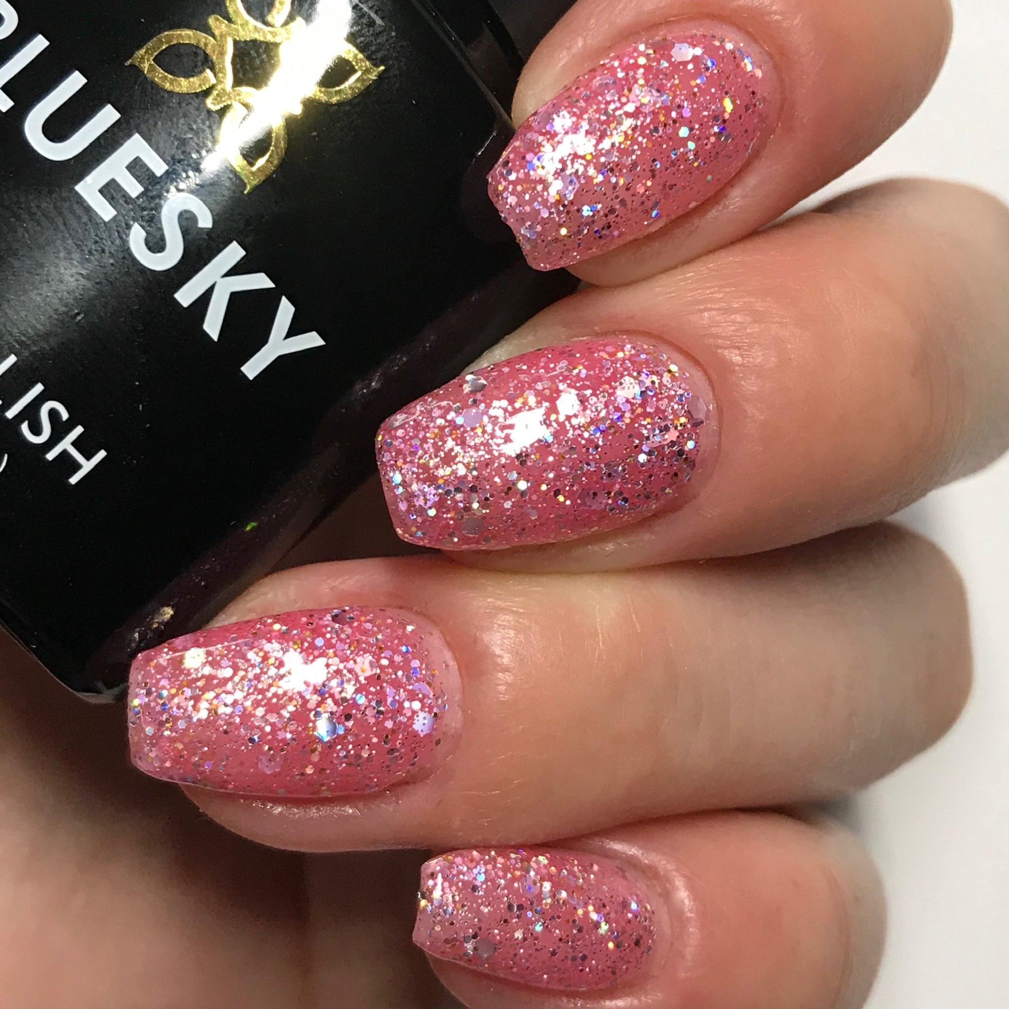 Bluesky Glitter BLZ 44 UV/LED Soak Off Gel Nail Polish 10ml Free Postage - Bluesky Nail Gel Polish