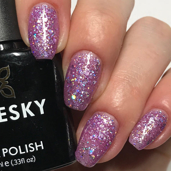 Bluesky Glitter BLZ 48 UV/LED Soak Off Gel Nail Polish 10ml Free Postage - Bluesky Nail Gel Polish