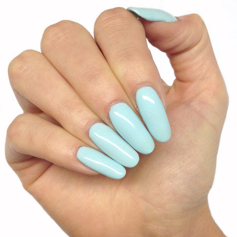 Bluesky DUCK EGG BLUE BP 02 UV/LED Soak Off Gel Nail Polish Greenish Chalk Blue - Bluesky Nail Gel Polish