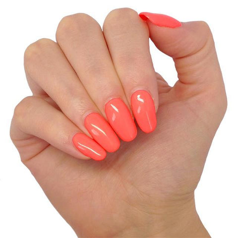 Bluesky BSH019 Hot Summer Coral, Bright Neon UV/LED Gel Nail Polish - BSH019 - Bluesky Nail Gel Polish
