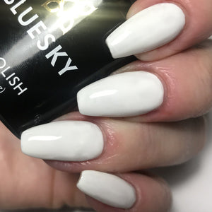 Bluesky CS61 BEST COVERAGE WHITE UV/LED Soak Off Gel Nail Polish - Solid White - Bluesky Nail Gel Polish