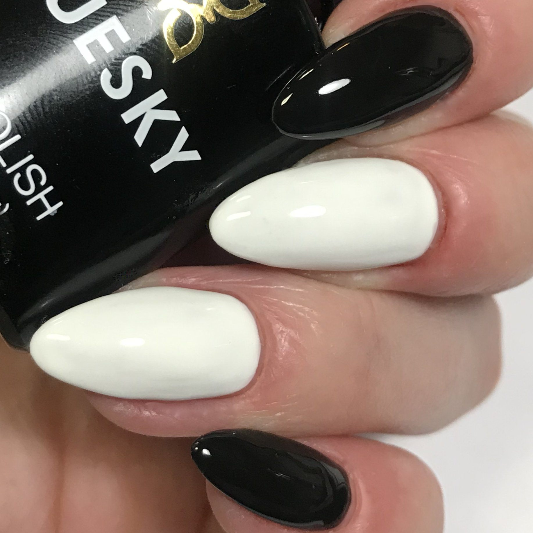 Bluesky Combo 80518 BLACKPOOL & CS61 PURE WHITE UV/LED Soak Off Gel Nail Polish - Bluesky Nail Gel Polish