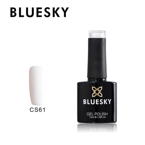 Bluesky CS 61 BEST COVERAGE WHITE UV/LED Soak Off Gel Nail Polish CS61 - Bluesky Nail Gel Polish