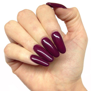 Bluesky CS63 PLUM WINE UV/LED Soak Off Gel Nail Polish - Deep Burgundy Purple - Bluesky Nail Gel Polish