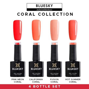 Bluesky Gel Polish 4 Bottle Coral  Set UV LED Nail 10ml