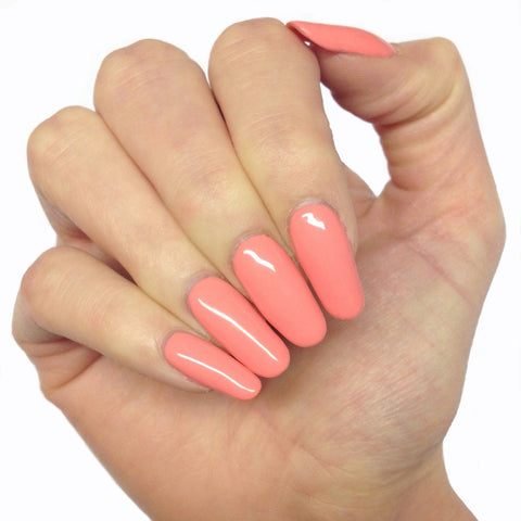 Bluesky Summer Colour FUSION UV/LED Soak Off Gel Nail Polish - Light Coral Peach - Bluesky Nail Gel Polish