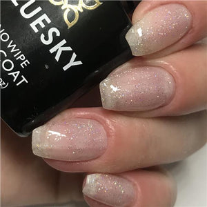 Bluesky Sparkle & Glitter Top Coat MAKE A WISH UV/LED Gel Nail Polish - GTC02