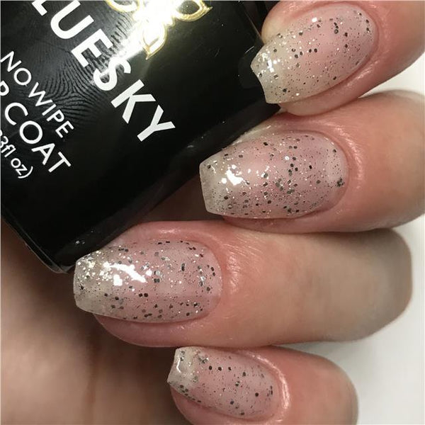Bluesky Glitter Top Coat INVITATION ONLY UV/LED Gel Nail Polish  - GTC05 - Bluesky Nail Gel Polish