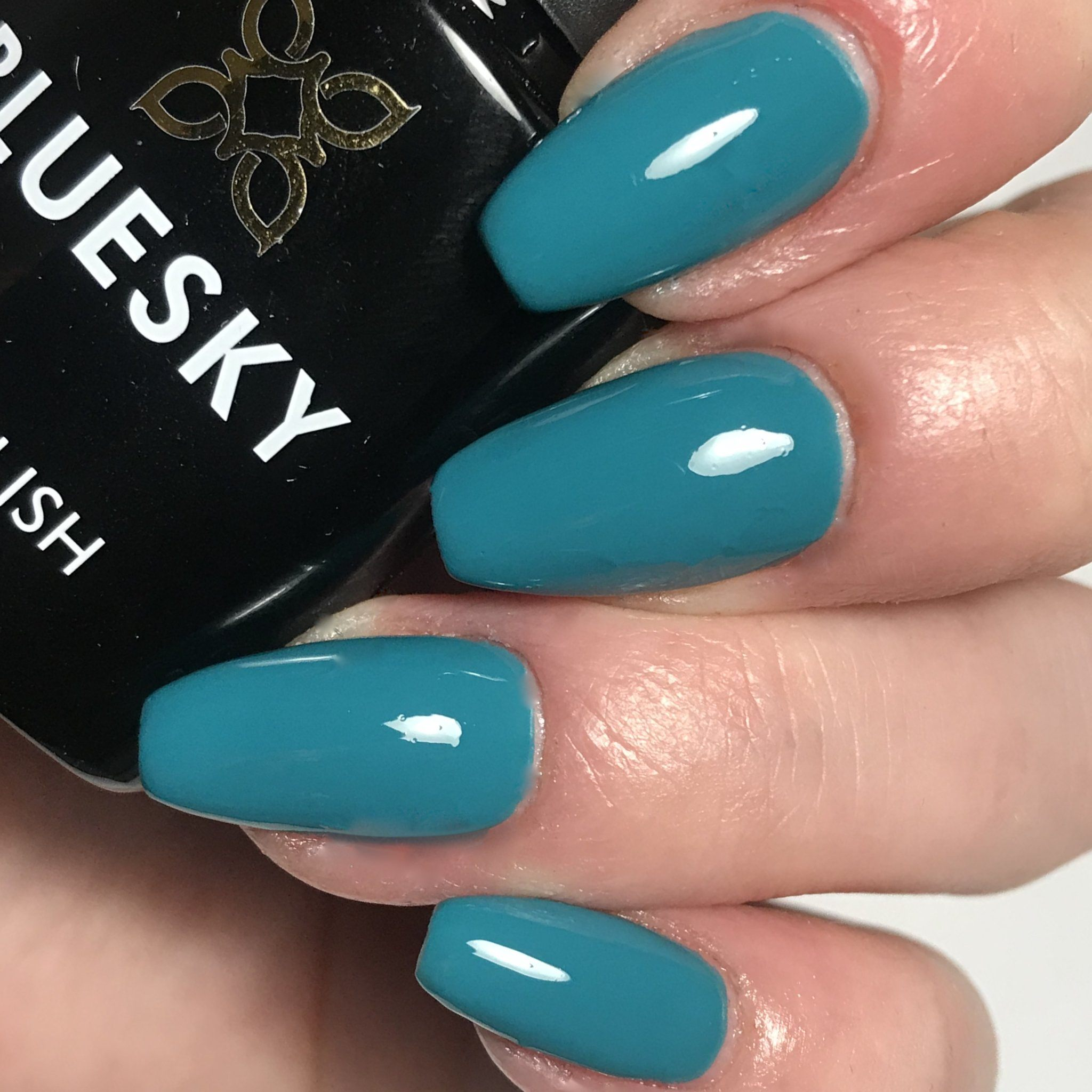 Bluesky QXG RANGE Dark Teal QXG 77 UV/LED Soak Off Gel Nail Polish! - Bluesky Nail Gel Polish