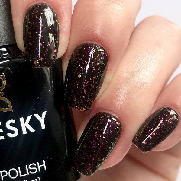 Bluesky GALAXY Glitter Flakes UV/LED Soak Off Gel Nail Polish 10ml - Galaxy 02 (Black Base Required) - Bluesky Nail Gel Polish