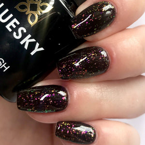 Bluesky GALAXY Glitter Flakes UV/LED Soak Off Gel Nail Polish 10ml - Galaxy 02 (Black Base Required)