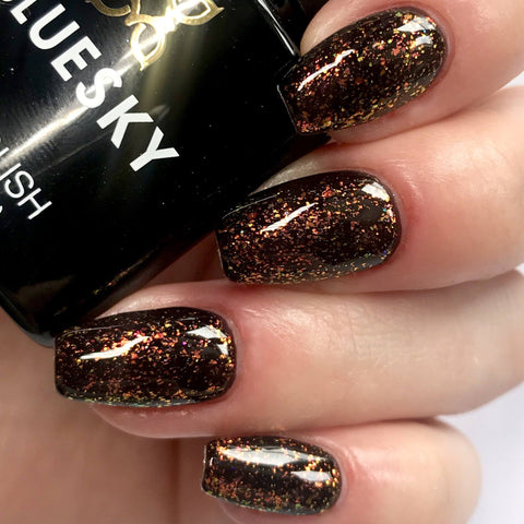 Bluesky GALAXY Glitter Flakes UV/LED Soak Off Gel Nail Polish 10ml - Galaxy 04 (Black Base Required) - Bluesky Nail Gel Polish