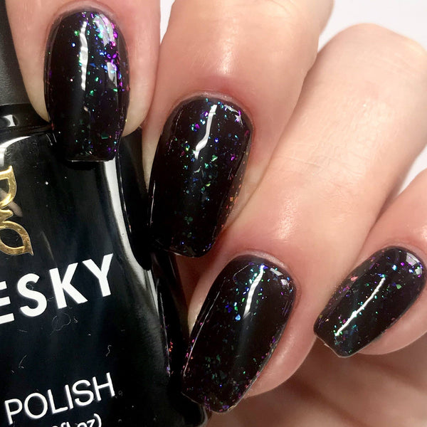 Bluesky GALAXY Glitter Flakes UV/LED Soak Off Gel Nail Polish 10ml - Galaxy 06 (Black Base Required) - Bluesky Nail Gel Polish
