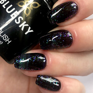 Bluesky GALAXY Glitter Flakes UV/LED Soak Off Gel Nail Polish 10ml - Galaxy 08 (Black Base Required) - Bluesky Nail Gel Polish