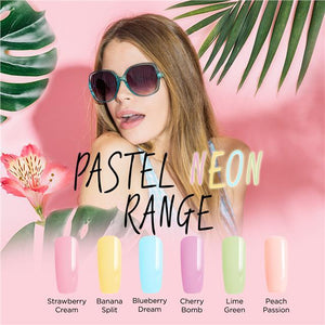 Bluesky Summer PASTEL NEON Range UV LED Soak Off Gel Nail Polish 10ml - Bluesky Nail Gel Polish