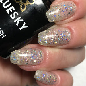 Bluesky KS2238 BEDAZZLED UV/LED Soak Off Gel Nail Polish 10ml - Sparkle Glitter