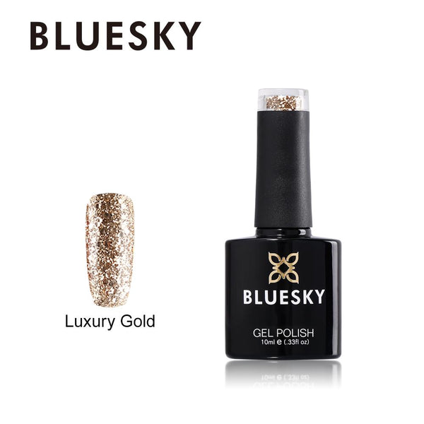 Bluesky CHRISTMAS GOLD COLLECTION 2018 UV LED Soak Off Gel Nail Polish 10ml - Bluesky Nail Gel Polish