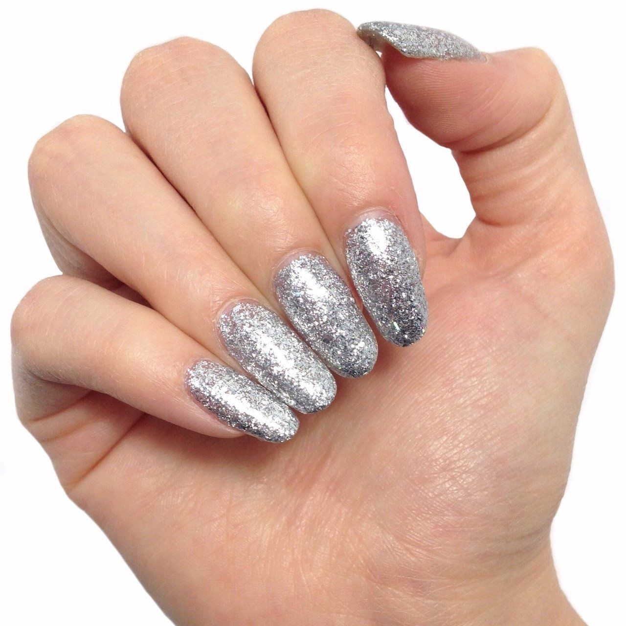 Bluesky LUXURY SILVER Sparkly Glitter UV/LED Soak Off Gel Nail Polish - KD32 - Bluesky Nail Gel Polish