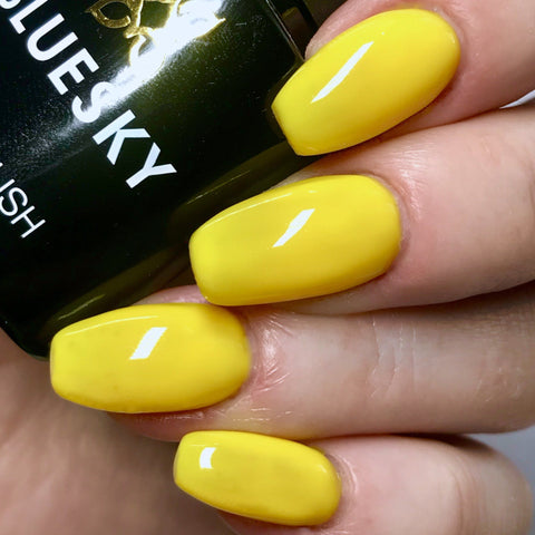 Bluesky NEON 03 CANARY YELLOW UV/LED Soak Off Gel Nail Polish 10ml - Bluesky Nail Gel Polish