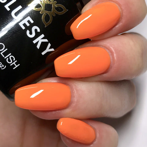 Bluesky NEON 04 ORANGE SORBET UV/LED Soak Off Gel Nail Polish 10ml Free P&P - Bluesky Nail Gel Polish