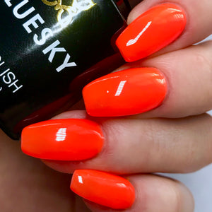Bluesky NEON 05 ORANGE ZEST UV/LED Soak Off Gel Nail Polish 10ml Free P&P - Bluesky Nail Gel Polish