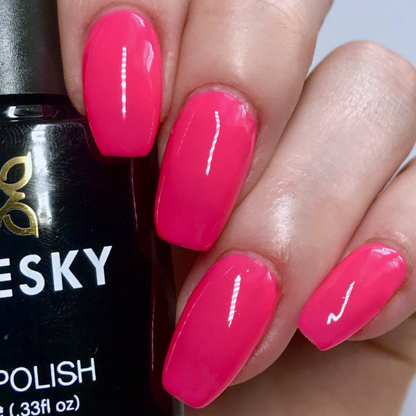Bluesky NEON 06 CHERISE UV/LED Soak Off Gel Nail Polish 10ml - Bright Hot Pink - Bluesky Nail Gel Polish