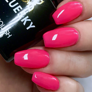 Bluesky NEON 06 CHERISE UV/LED Soak Off Gel Nail Polish 10ml - Bright Hot Pink