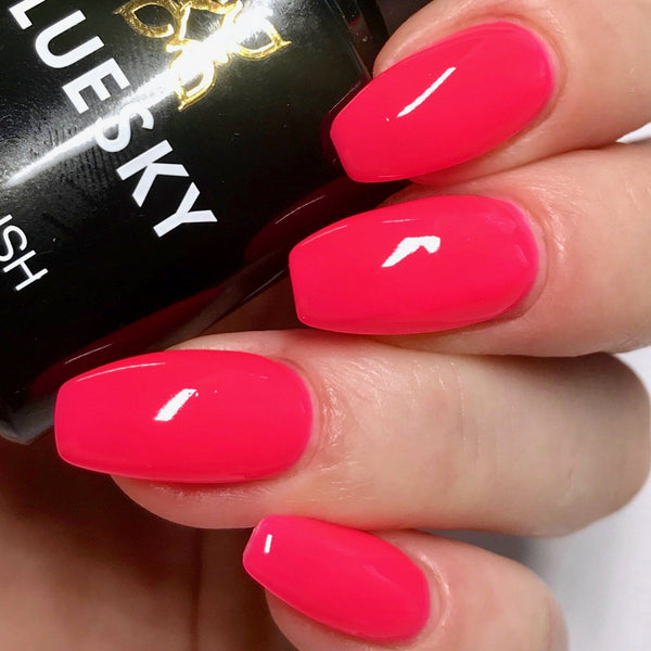 Bluesky NEON 12 SHOCKING PINK UV/LED Soak Off Gel Nail Polish - Bright Summer