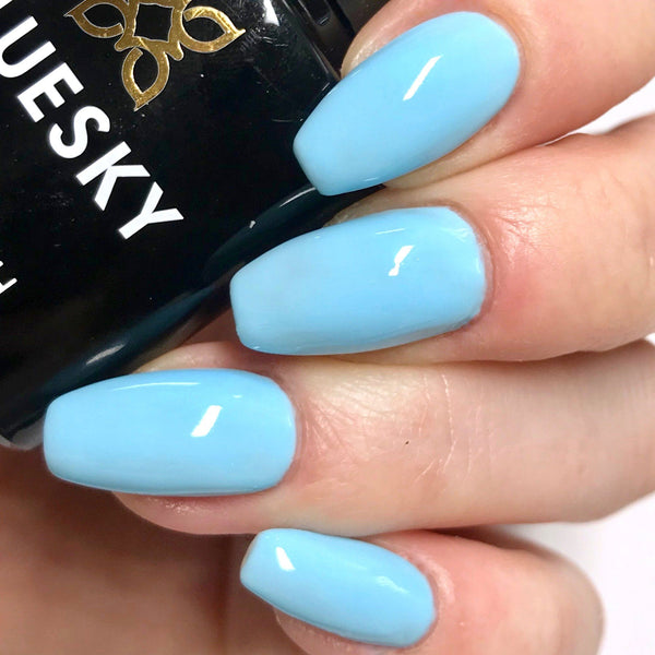 Bluesky PASTEL NEON PN03 UV LED Soak Off Gel Nail Polish 10ml Light Baby Blue - Bluesky Nail Gel Polish