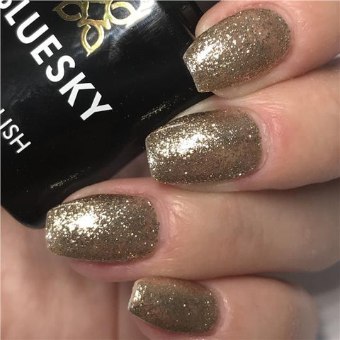 Bluesky Platinum CHAMPAGNE SPARKLE UV/LED Gel Nail Polish - PLATINUM 04 - Bluesky Nail Gel Polish