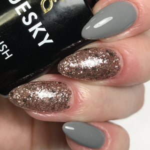 Bluesky Combo S06N PINK GLITTER & DC85 MR GREY UV/LED Soak Off Gel Nail Polish - Bluesky Nail Gel Polish