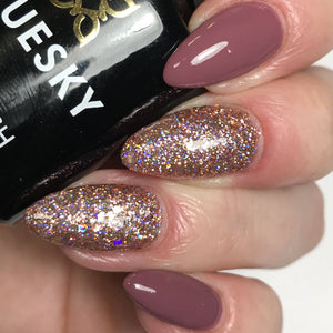 Bluesky Combo S17N PIXIE DUST & MAD ABOUT MAUVE UV/LED Soak Off Gel Nail Polish - Bluesky Nail Gel Polish