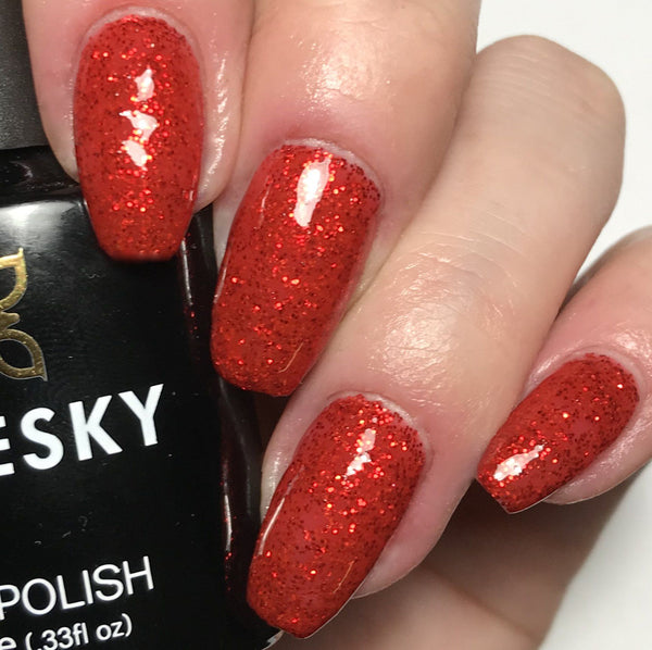 Bluesky Christmas Special Glitter SANTA RED DREAM UV/LED Soak Off Gel Nail Polish - Bluesky Nail Gel Polish