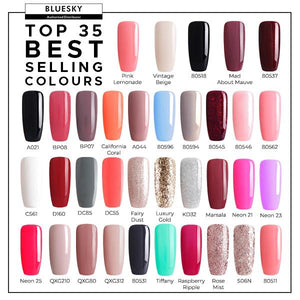 Bluesky Top 35 Best Sellers UV LED Gel Nail Polish 10ml