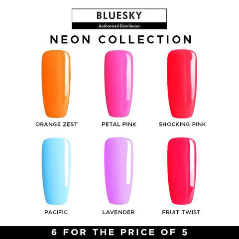 Bluesky Gel Polish Neon Collection UV LED Soak Off Nail Set Of 6