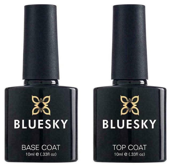 Bluesky POPULAR Top Base Coat Large No Wipe Top Coat UV LED Gel Polish 15ml 10ml - Bluesky Nail Gel Polish