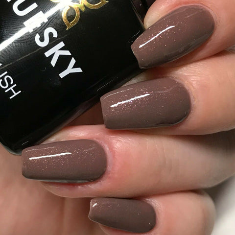 Bluesky Gel Polish A14 MOCCA SHIMMER UV LED Soak Off Nail 10ml Free Postage