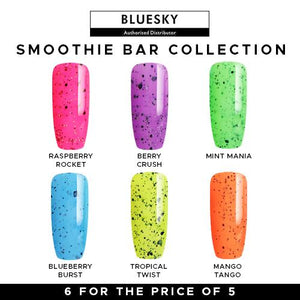 Bluesky Gel Polish Smoothie Bar UV LED Soak Off Nail Set Of 6
