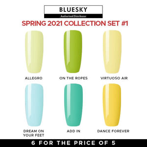 Bluesky Gel Polish Spring 2021 Collection #Set 1 UV LED Soak Off Nail Set Of 6