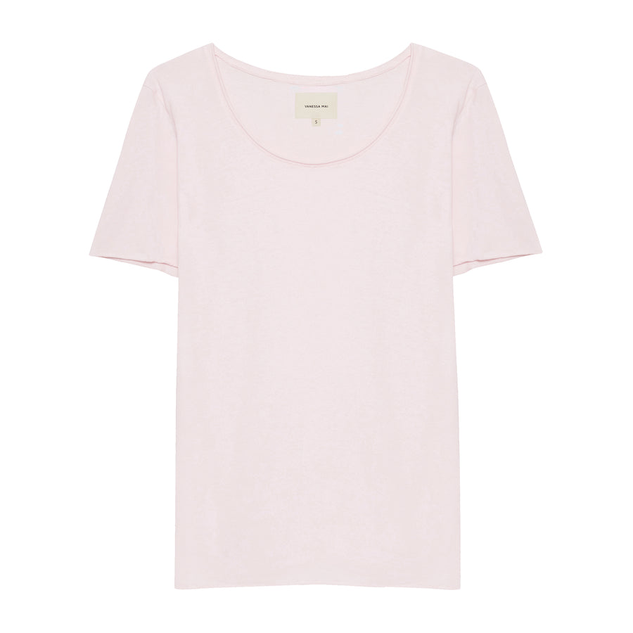 Powder Pink Crew Neck Shirt