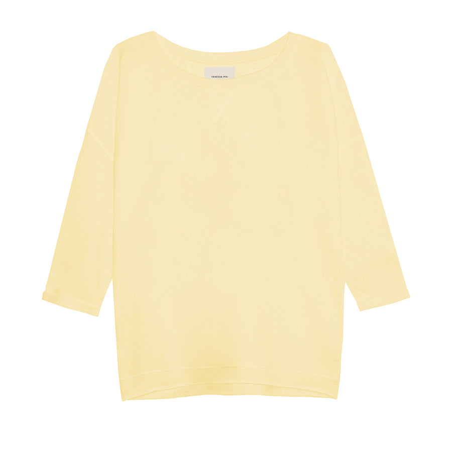 Bright Yellow Loose Fit Sweater