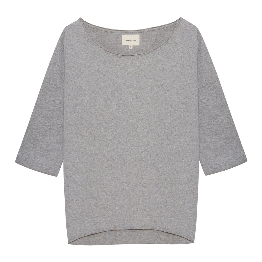 Grey Melee Loose Fit Sweater