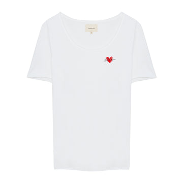 Heart Crew Neck Shirt