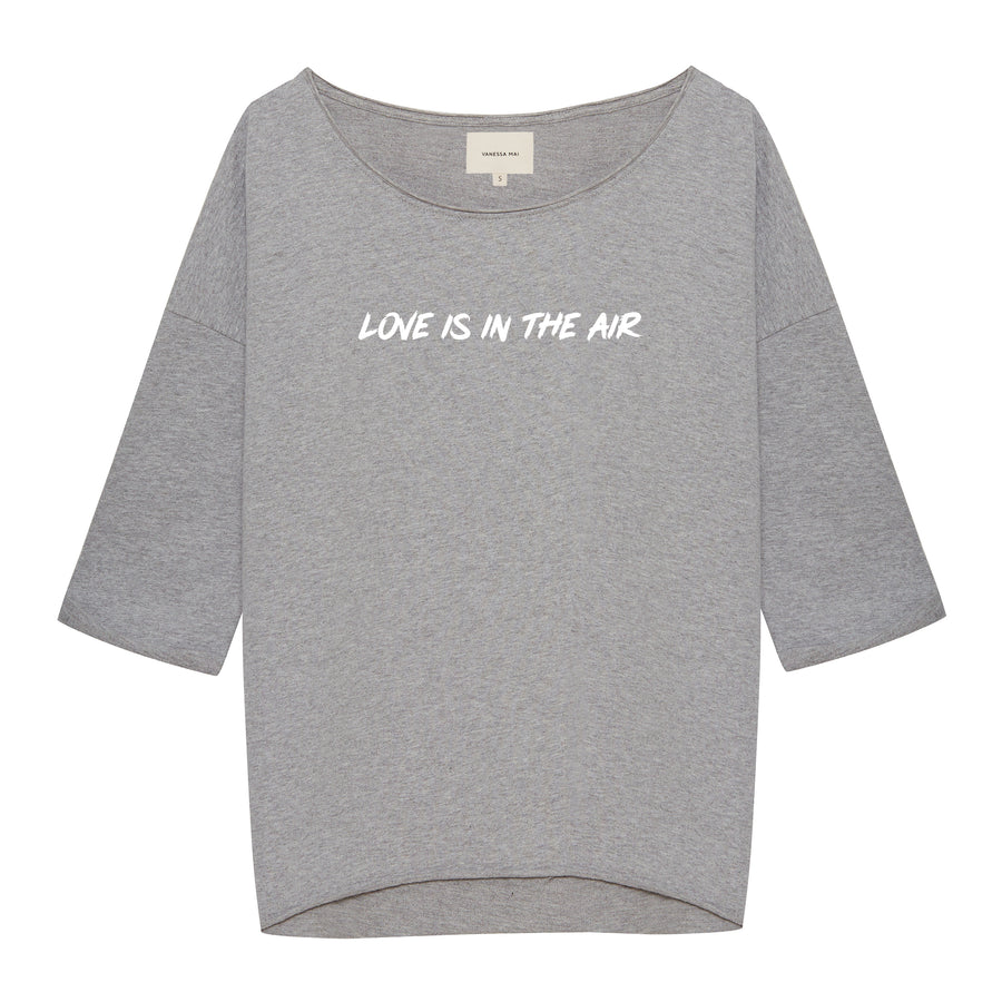 LOVE IS IN THE AIR grey Sweater