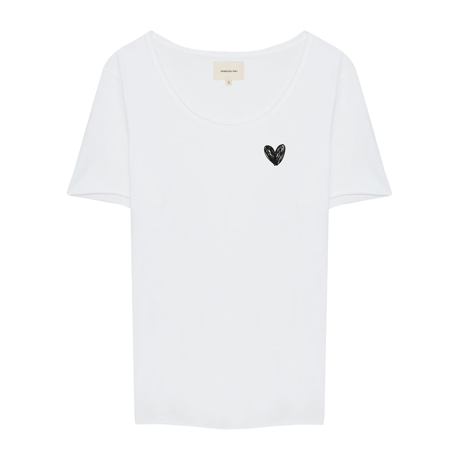 Black Heart Crew Neck Shirt