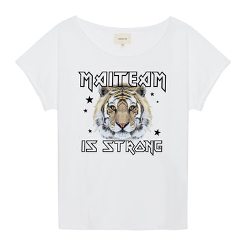 MAITEAM Tiger T-Shirt in weiß