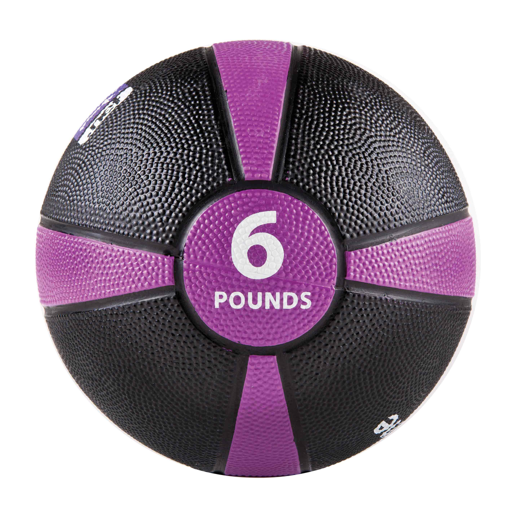 Rubber Medicine Ball 6LB Purple/Black