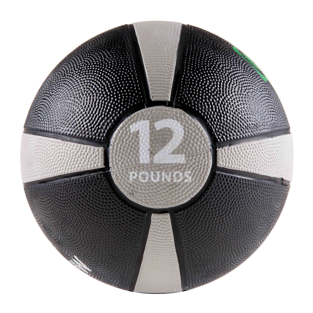 Rubber Medicine Ball 12LB Grey/Black