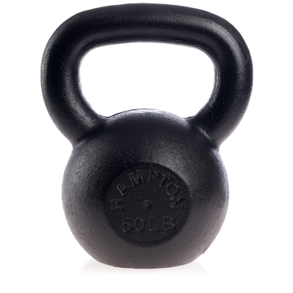 Hampton 50LB Black Kettle Bell